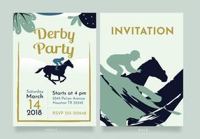 Invitation de fête du Kentucky Derby Vector Design