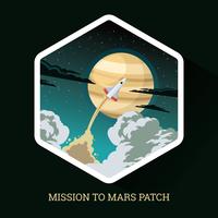 Mission à Mars Patch vecteur