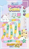 jeu de société pour enfants dans un modèle de style licorne pastel