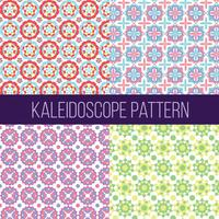 Kaléidoscope modèle collection vecteur