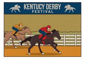 Kentucky derby carte postale vecteur