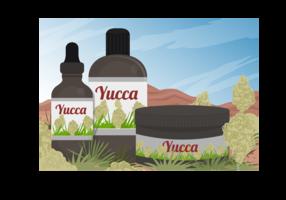 Yucca Scène Et Yucca Médecine Extrait Du Vecteur