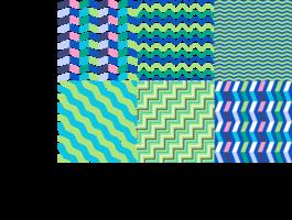 Arrière-plans en zigzag