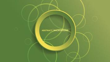 fond géométrique abstrait avec fond de cercle dégradé vert vecteur