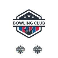 modèle de vecteur d & # 39; insigne de sport logo équipe de bowling professionnel