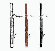 Instrument de musique orchestre basson vecteur