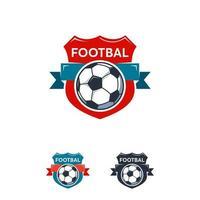 logo de sport de football conçoit un modèle de vecteur de badge, logo de badge de sport de football professionnel