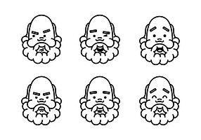 Socrates Faces Vecteurs vecteur