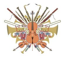 ensemble d'instruments d'orchestre vecteur