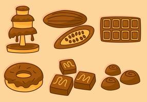 Vecteurs de chocolat délicieux