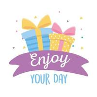 joyeux anniversaire, coffrets cadeaux, profitez de votre fête