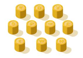 Vecteur de collection de pièces de monnaie