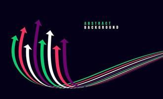 flèches de croissance financière avec coloré. illustration vectorielle