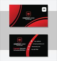 conception de modèle de carte de visite géométrique rouge et noir
