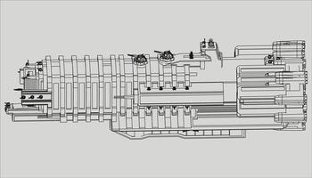 lineart du vaisseau spatial