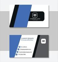 modèle de carte de visite professionnelle propre