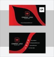 modèle de conception de carte de visite géométrique rouge et noir