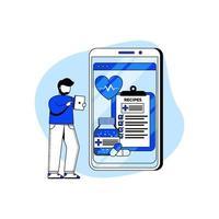 concept d & # 39; icône de pharmacie numérique