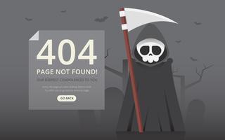 404 erreur de page avec la figure drôle.
