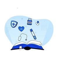 concept d'icône de l'éducation médicale vecteur