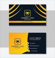 modèle de carte de visite jaune élégant vecteur