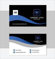 modèle de carte de visite professionnelle bleue vecteur