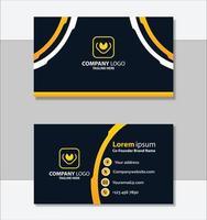 modèle de carte de visite professionnelle dorée vecteur