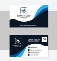 modèle de carte de visite professionnelle bleu propre vecteur