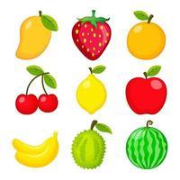 collection de jeu de fruits vecteur