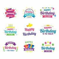 joyeux anniversaire stickers vecteur