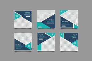 modèle de publication de médias sociaux expert en marketing minimaliste vecteur