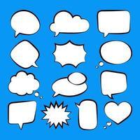jeu de bulle de discours vecteur