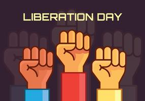 Illustration de la journée de la libération vecteur