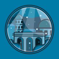 Ville d'Atlantis vecteur