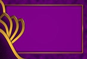 papier découpé fond d'or de luxe avec texture en métal violet foncé style abstrait 3d vecteur