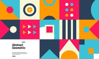 fond de motif géométrique coloré