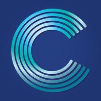 Lettre C Typographie vecteur