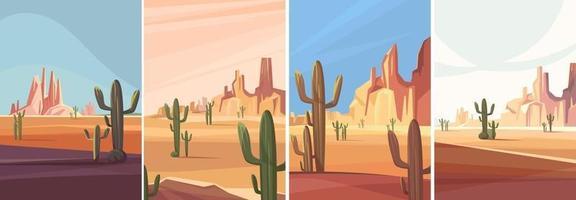 collection de déserts de l'Arizona vecteur