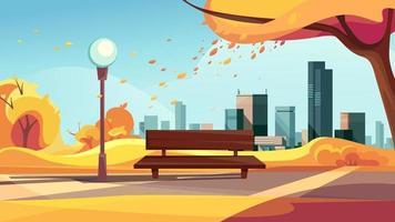 parc de la ville d'automne vecteur