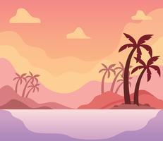 Illustration de paysage tropical vecteur