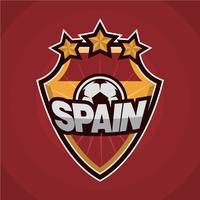 Patch de football d'Espagne vecteur