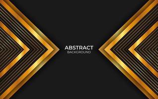 conception abstraite de luxe noir et or vecteur