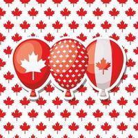 fête du canada avec conception de ballons vecteur