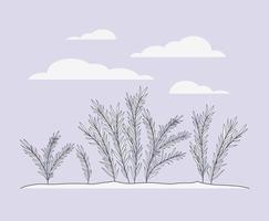 scène de plantes marines algues vecteur
