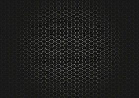 motif abstrait hexagone noir sur fond or brillant et texture. vecteur
