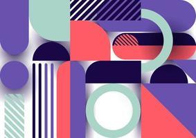 motif de formes géométriques design tendance abstraite sur fond blanc vecteur