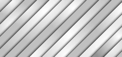 Abstrait 3d blanc et gris bande diagonale couche de papier superposition de fond et de texture vecteur