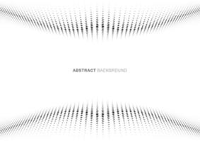 perspective de style demi-teinte motif abstrait vague point noir sur fond blanc vecteur