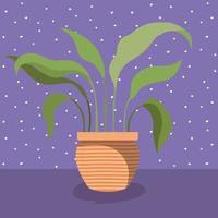 plante d'intérieur en icône de pot vecteur