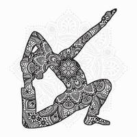mandala de yoga. éléments décoratifs vintage. motif oriental, illustration vectorielle. vecteur